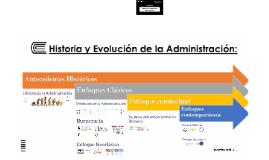 Historia y Evolución de la Admnistración