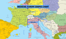 MEDIEVAL EUROPE GRAPES CHART