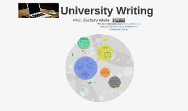 University Writing