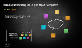 Characteristics of a Credible Website