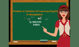 Problem & Solution of learning english in Bangladesh