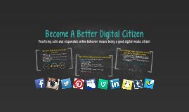 Be A Good Digital Citizen