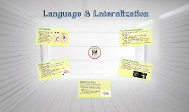 Language & Lateralization
