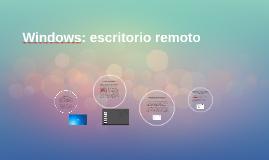 Windows: escritorio remoto