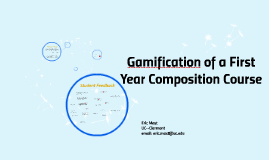 Gamification of FYC course