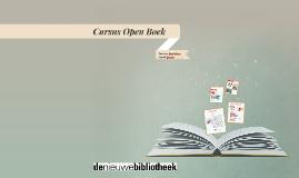 Cursus Open Boek les 4