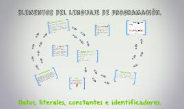 Elementos del lenguaje de programación.