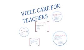 Voice Care for Teachers