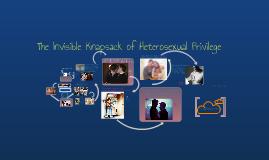 Invisible Knapsack of Privilege