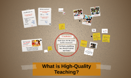 What is High-Quality Teaching?