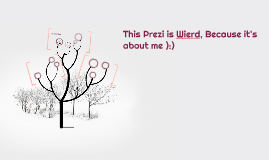 This Prezi is Wierd, Because it's about me ):)