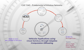 Vehicular Applications using Cloud Services through Adaptive