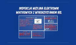Inspekcja wizyjna elektrowni wiatrowych z wykorzystaniem bsl
