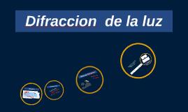 Copy of Difraccion  de la luz