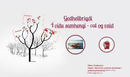 Geðheilbrigði - Í víðu samhengi 23.01.2014./22.05.2015