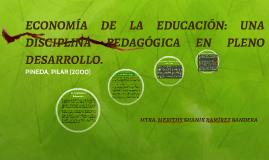 ECONOMÍA DE LA EDUCACIÓN: UNA DISCIPLINA PEDAGÓGICA EN PLENO