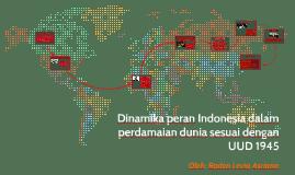 Dinamika peran Indonesia dalam perdamaian dunia sesuai denga