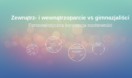 Personalistyczna interpretacja osobowości vs gimnazjaliści