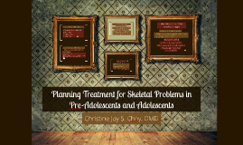 Planning Treatment for Skeletal Problems in Pre-Adolescents