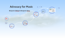 Advocacy for Music