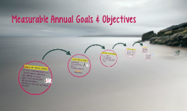 IEP Goals & Objectives