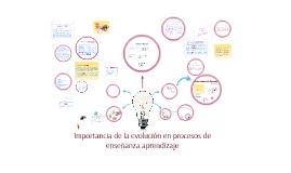 Importancia de la evolucion en procesos de enseñanza aprendi