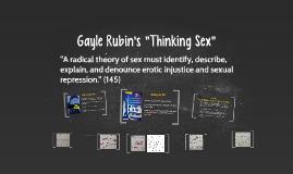 "Gayle Rubin's ""Thinking Sex"""