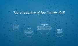 The History of the Tennis Ball