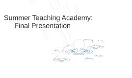 Summer Teaching Academy: