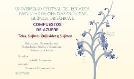 Copy of Compuestos de Azufre