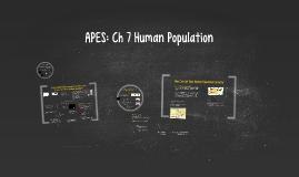 APES: Ch 7 Human Population