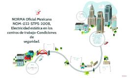 NORMA Oficial Mexicana NOM-022-STPS-2008, Electricidad estát