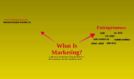 What Is Marketing