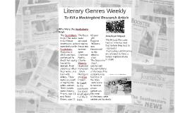 Literary Genres Weekly