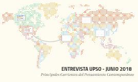 ENTREVISTA UPSO - JUNIO 2018