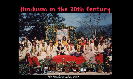Hinduism in the 20th Century