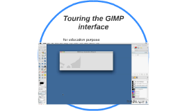 Touring the GIMP interface