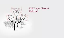 EDUC 390: Class 16