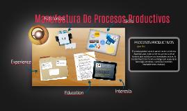 Manufactura De Procesos Productivos