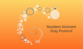 Resident Assistant Duty 2016