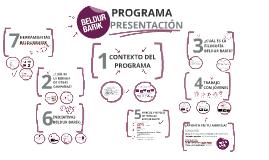 Presentación Programa BB 2016