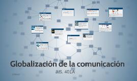 Globalización de la comunicación