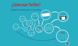 Uso de Twitter