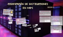 CODIFICACION DE INSTRUCCIONES EN MIPS