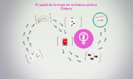 El papel de la mujer en la historia política Chilena