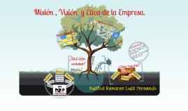 Misión, visión y ética de la empresa