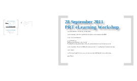 Primary PRT eLearning Workshop