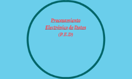 Procesamiento Electrónico de Datos (P.E.D)