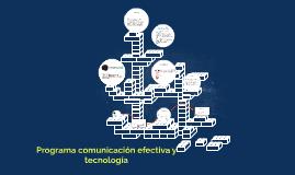 Programa comunicación efectiva y tecnología