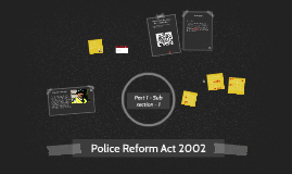 Police Reform Act 2002